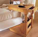 fee plans woodworking resource from WoodworkersWorkshop Online Store - end table,furniture,cantilevers,downloadable PDF,patterns,snack table,magazine rack,woodworking plans,woodworkers projects,blueprints,WOODmagazine,WOODStore