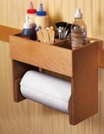 Portable Glue and Paper Towel Center Woodworking Plan