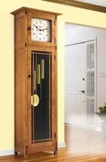 Arts and Crafts Heirloom Tall Clock Woodworking Plan.