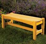 Garden Bench Woodworking Plan.
