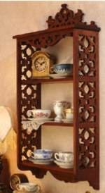 31-MD-00366 - Elegant Scrollsawn Wall Shelf Woodworking Plan