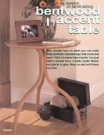 31-MD-00368 - Bentwood Accent Table Woodworking Plan