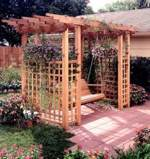 Garden Arbor Getaway Woodworking Plan.