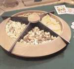 31-MD-00396 - Turned Lazy Susan Snack Tray Woodworking Plan