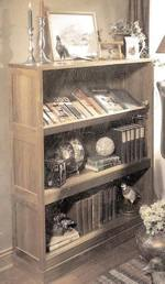 Reading Rack Bookshelf Woodworking Plan.