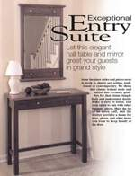 Hall Table and Mirror Woodworking Plan
