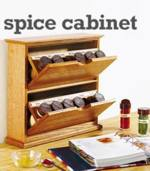 31-MD-00425 - Tilting Bin Spice Cabinet Woodworking Plan