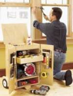 fee plans woodworking resource from WoodworkersWorkshop Online Store - dp-00426,tool cabinet,caddy,tools,storage,workshops,rolling,mobile,portable,wheels,fee woodworking plans,projects,patterns,blueprints,build,construction,how to,diy,do-it-yourself