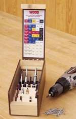 Multi Tiered Drill-Driver Organizer Woodworking Plan.
