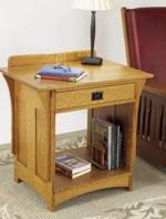 31-MD-00433 - Arts and Crafts Nightstand Woodworking Plan.