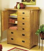 Arts and Crafts Dresser Woodworking Plan.