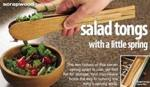 Salad Tongs Woodworking Plan