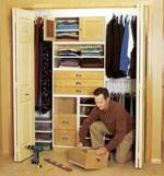 fee plans woodworking resource from WoodworkersWorkshop Online Store - dp-00448,closets,storage,closet system,walk in closet,drawers,shelves,hanging,bedrooms,cabinets,fee woodworking plans,projects,patterns,blueprints,build,construction,how to,diy,do-it-yourself