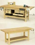 Workbench and 6 Pack of Upgrades Woodworking Plan
