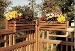 Deck Rail Planter Frames Woodworking Plan