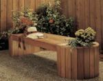 fee plans woodworking resource from WoodworkersWorkshop Online Store - planter bench,planter boxes,outdoors,downloadable PDF,patterns,woodworking plans,woodworkers projects,blueprints,WOODmagazine,WOODStore