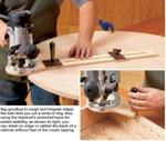 fee plans woodworking resource from WoodworkersWorkshop Online Store - router jigs,circle cutting jigs,downloadable PDF,woodworking plans,projects,patterns,blueprints,build,construction,how to,diy,do-it-yourself