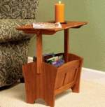31-MD-00497 - Magazine Rack Table Woodworking Plan