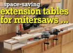 fee plans woodworking resource from WoodworkersWorkshop Online Store - extension tables,mitersaw,mortiser,downloadable PDF,patterns,miter saw,sliding stop,woodworking plans,woodworkers projects,blueprints,WOODmagazine,WOODStore
