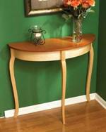 Simply Graceful Bow Front Table Woodworking Plan