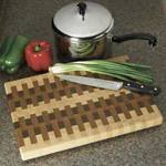End Grain Cutting Board Woodworking Plan