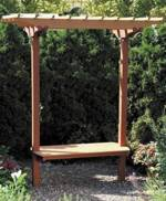31-MD-00542 - Garden Bench with Trellis Woodworking Plan