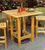 Bistro Patio Table and Stools Woodworking Plan, dp-00549,bistro table,outdoors,ptio,stools,seating,tale and stools,cedar,fee woodworking plans,projects,patterns,blueprints,build,construction,how to,diy,do-it-yourself