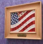 Presidential Coin Flag Woodworking Plan