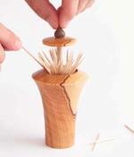 Pop Up Toothpick Dispenser Woodworking Plan