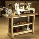 Simple and Sturdy Tool Stand Woodworking Plan, dp-00577,tool stand,worktable,workstation,storage,workshops,fee woodworking plans,projects,patterns,blueprints,build,construction,how to,diy,do-it-yourself