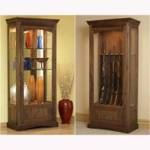fee plans woodworking resource from WoodworkersWorkshop Online Store - dp-00591,gun cabinet,display cabinet,showcase,furniture,freestanding,lighted,fee woodworking plans,projects,patterns,blueprints,build,construction,how to,diy,do-it-yourself