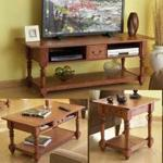 Big Screen TV Trio Woodworking Plan, entertainment center,tv stand,television stand,coffee tables,end tables,furniture,fee woodworking plans,projects,patterns,blueprints,build,construction,how to,diy,do-it-yourself