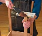 Leg Trimming Jig Downloadable Woodworking Plan PDF, jigs,leg trimming jigs,wooden,downloadable PDF,patterns,cutting,workshop,easy,beginners,woodworking plans,woodworkers projects,blueprints,WOODmagazine,WOODStore