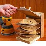 fee plans woodworking resource from WoodworkersWorkshop Online Store - sanding,caddy,organizer,downloadable PDF,patterns,disc caddy,cabinet,workshop,storage,woodworking plans,woodworkers projects,blueprints,WOODmagazine,WOODStore