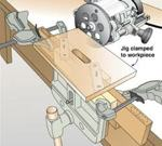 Self Centering Mortising Jig Woodworking Plan