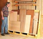Shorts and Sheets Goods Rack Woodworking Plan