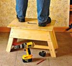 fee plans woodworking resource from WoodworkersWorkshop Online Store - step stools,stools,tool tote,downloadable PDF,patterns,workshop,woodworking plans,woodworkers projects,blueprints,WOODmagazine,WOODStore