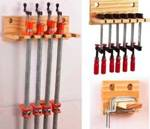 fee plans woodworking resource from WoodworkersWorkshop Online Store - clamp racks,clamps,downloadable PDF,patterns,organize,storage,workshops,woodworking plans,woodworkers projects,blueprints,WOODmagazine,WOODStore