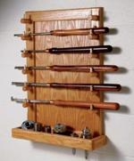 Lathe Tool Rack Downloadable Woodworking Plan PDF, lathes,tool racks,storage,downloadable PDF,patterns,organize,workshops,woodworking plans,woodworkers projects,blueprints,WOODmagazine,WOODStore