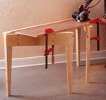 Fold Out Work Support Woodworking Plan