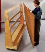 Roll Around Plywood Cart Woodworking Plan