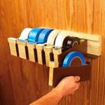 Wall Hung Tape Dispensers Woodworking Plan