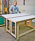 fee plans woodworking resource from WoodworkersWorkshop Online Store - assembly tables,folding,worktables,downloadable PDF,patterns,workbenches,workshops,woodworking plans,woodworkers projects,blueprints,WOODmagazine,WOODStore
