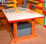 Back-to-Basics Worktable Woodworking Plan.