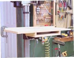 fee plans woodworking resource from WoodworkersWorkshop Online Store - drill press table,workshops,bolt on,downloadable PDF,patterns,worktables,work surfaces,woodworking plans,woodworkers projects,blueprints,WOODmagazine,WOODStore