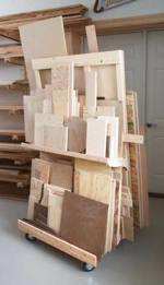 Mobile Sheet Goods Rack Woodworking Plan
