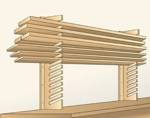 Easy Access Stock Storage Downloadable Woodworking Plan PDF, lumber racks,wall mounted,storage,downloadable PDF,patterns,workshops,organizers,woodworking plans,woodworkers projects,blueprints,WOODmagazine,WOODStore