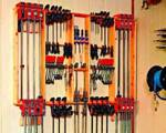 fee plans woodworking resource from WoodworkersWorkshop Online Store - clamp racks,wall mounted,storage,downloadable PDF,patterns,workshops,organizers,woodworking plans,woodworkers projects,blueprints,WOODmagazine,WOODStore