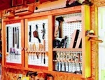 Space-Saving Tool Cabinet Woodworking Plan.