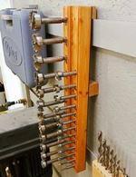 Hanging Forstner Bit Holder Woodworking Plan